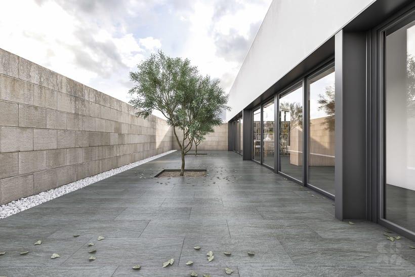 Render - Arquitectura 3D - Diseño - Casa Patio 4