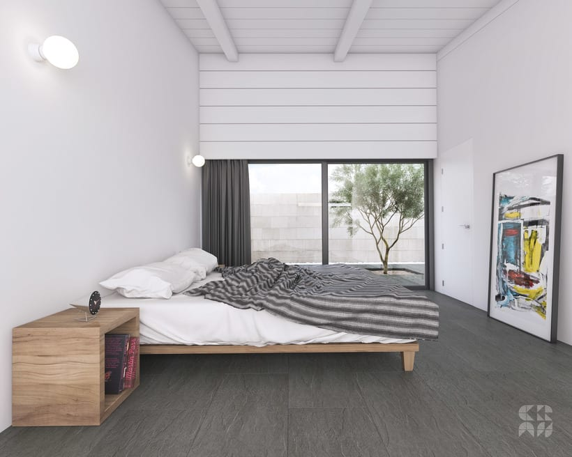 Render - Arquitectura 3D - Diseño - Casa Patio 5