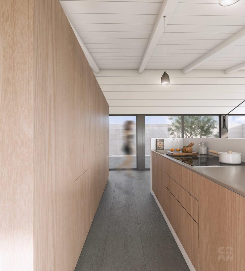 Render - Arquitectura 3D - Diseño - Casa Patio 7