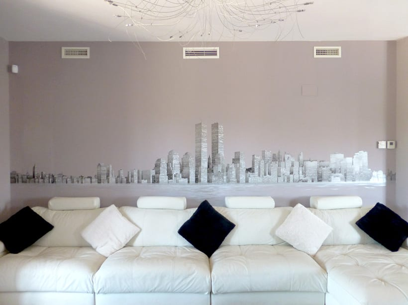 "Mural ""Skyline New York"" 1"