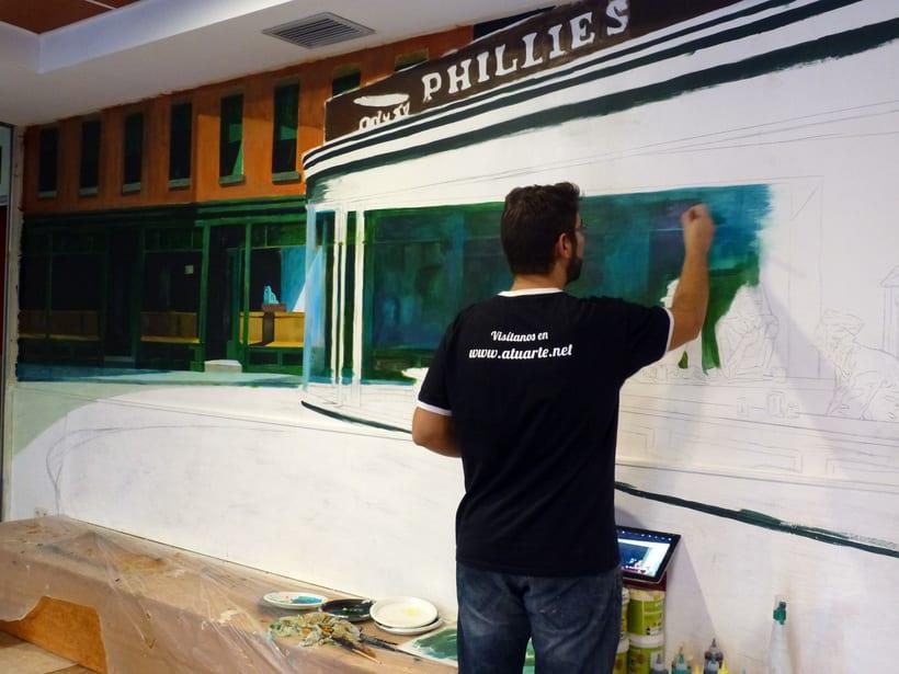Mural Cafetería Bako´s Music  1