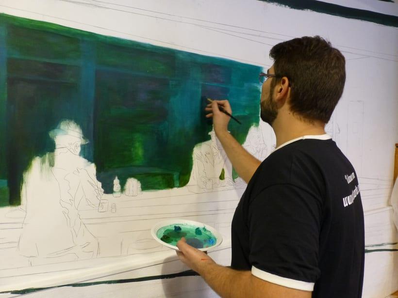 Mural Cafetería Bako´s Music  3