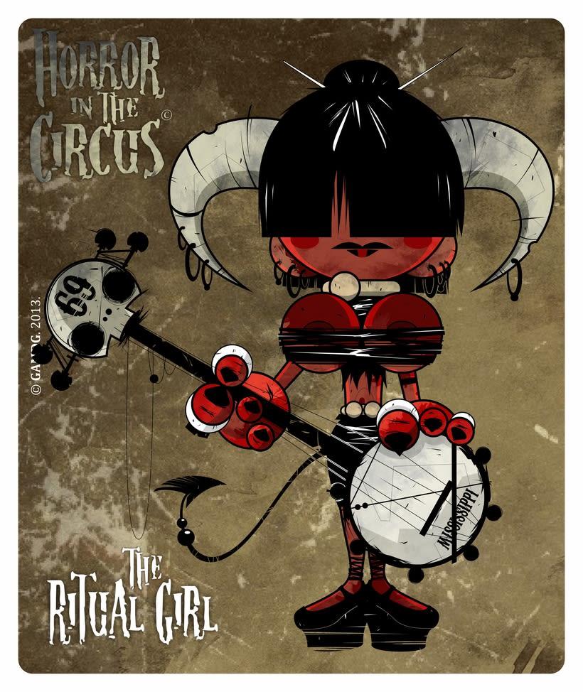Serie de ilustraciones - HORROR in the CIRCUS 0