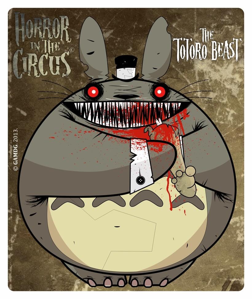 Serie de ilustraciones - HORROR in the CIRCUS 1