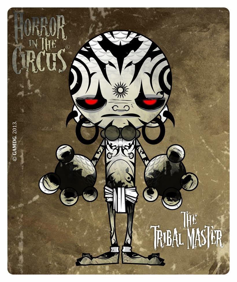 Serie de ilustraciones - HORROR in the CIRCUS 2