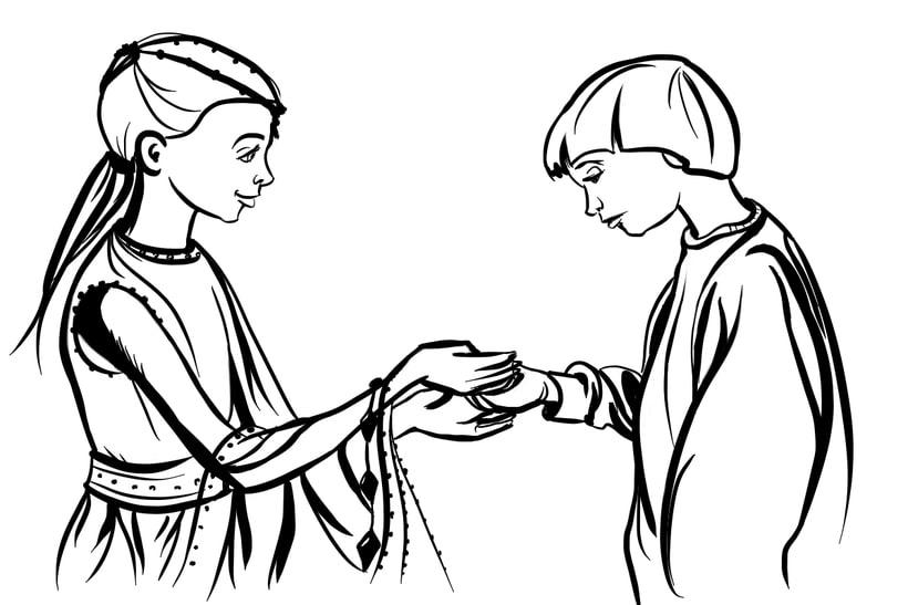 The Princess and Bastian 1
