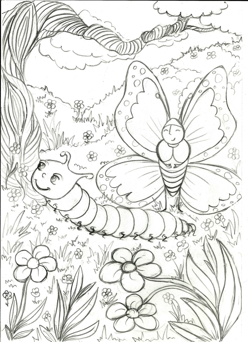 The Butterfly and The Caterpillar 1