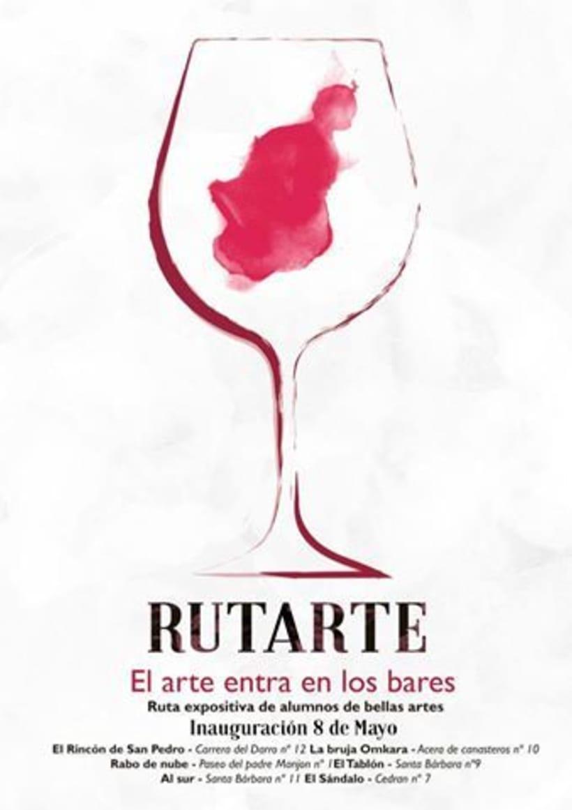 Carteles promocionales del evento Rutarte. El arte entra en los bares. 0