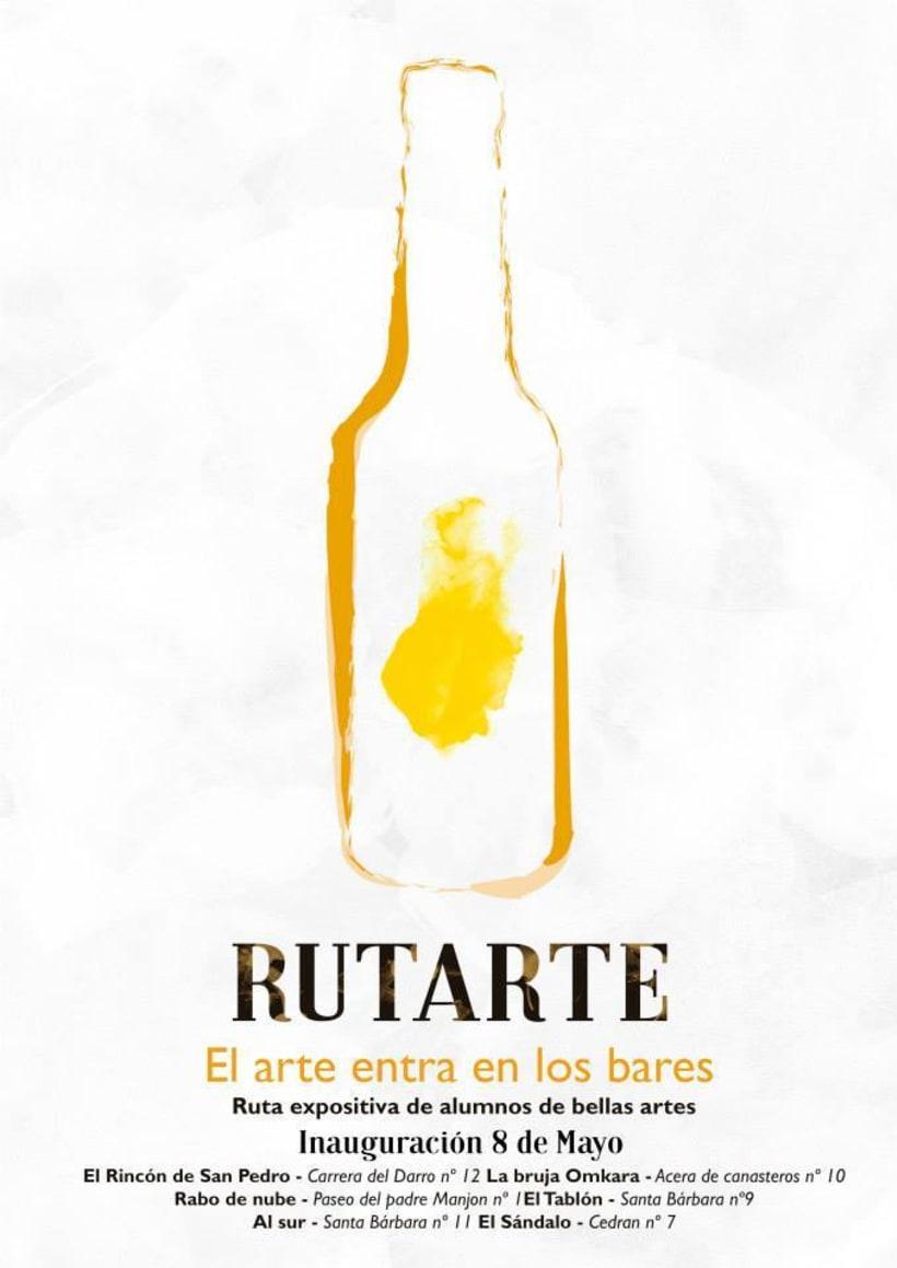 Carteles promocionales del evento Rutarte. El arte entra en los bares. 1