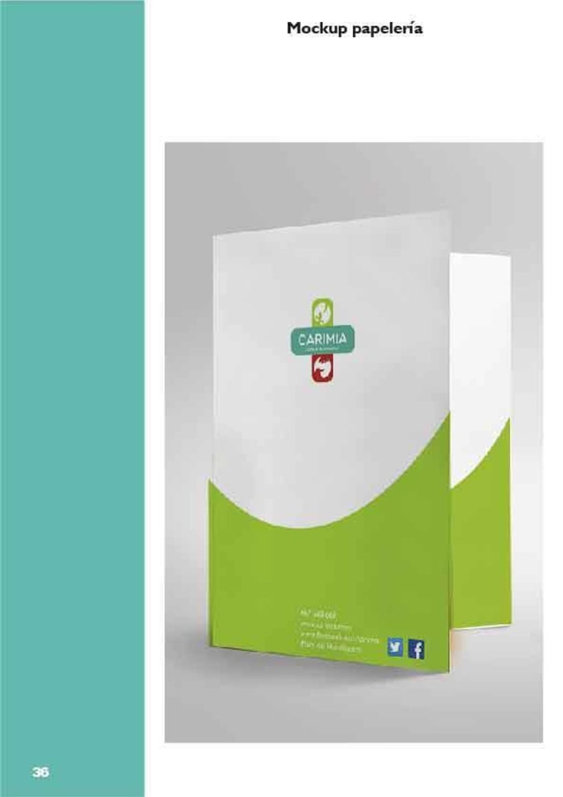 Manual de identidad corporativa de la clínica veterinaria Carimia -1