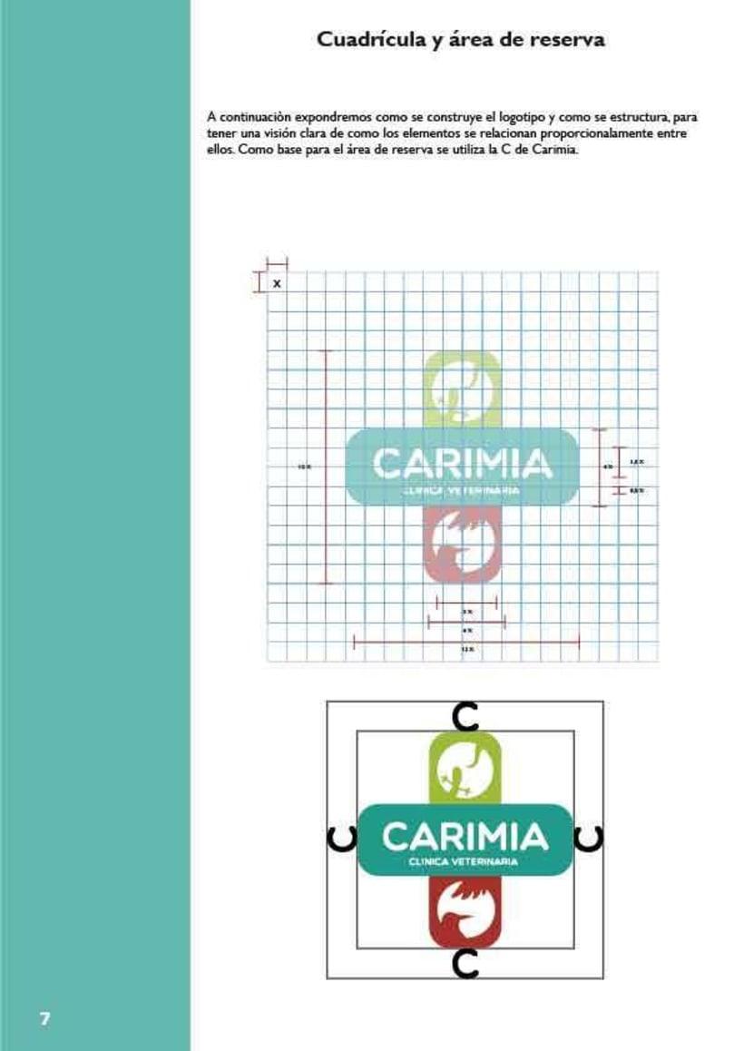 Manual de identidad corporativa de la clínica veterinaria Carimia 0