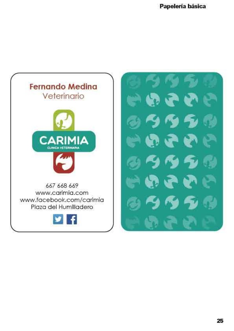 Manual de identidad corporativa de la clínica veterinaria Carimia 4
