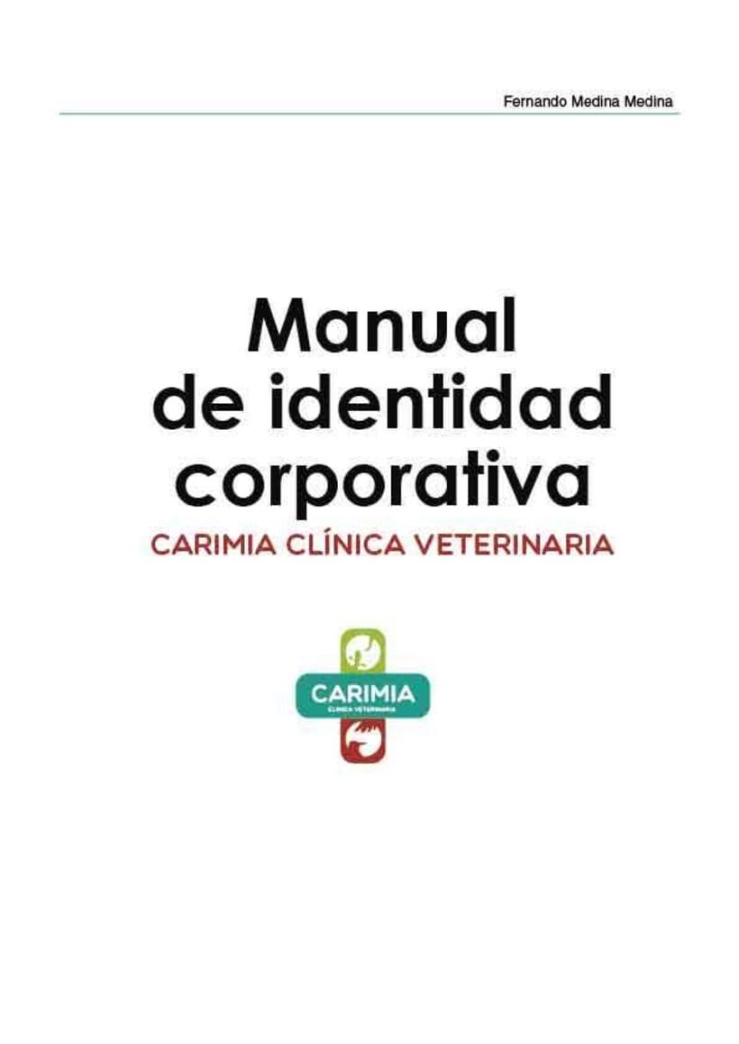 Manual de identidad corporativa de la clínica veterinaria Carimia 9