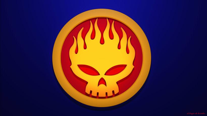 Recreación de Logo de The Offspring (Fan Art) -1