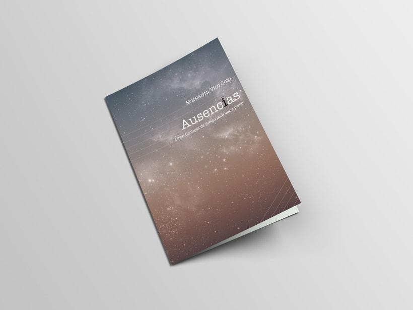 "Libreto partituras ""Ausencias"" Margarita Viso. Proyecto editorial 0"