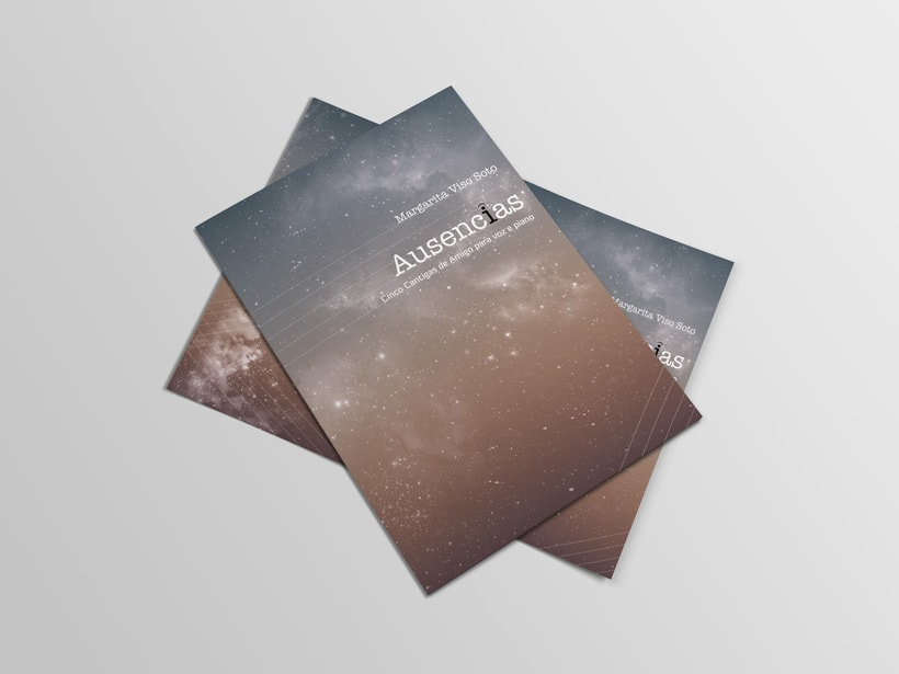 "Libreto partituras ""Ausencias"" Margarita Viso. Proyecto editorial 3"