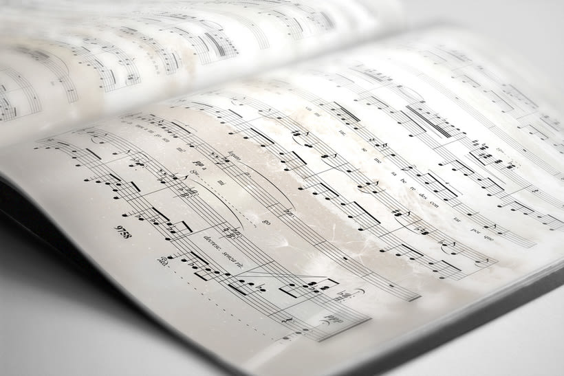 "Libreto partituras ""Ausencias"" Margarita Viso. Proyecto editorial 6"