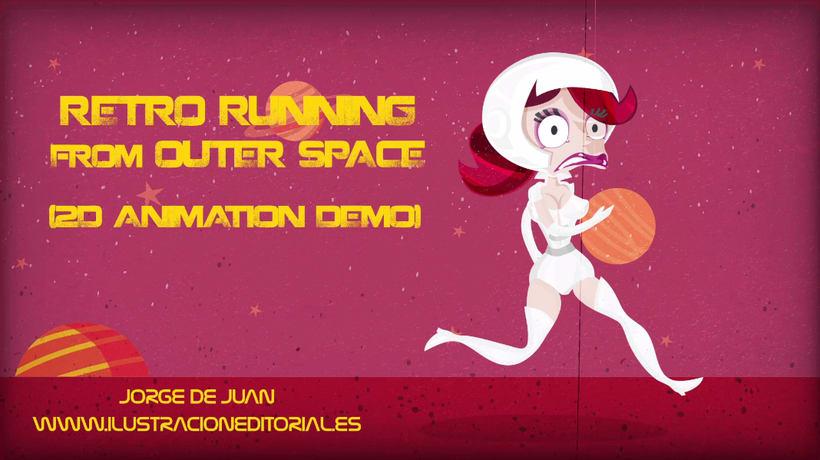 Sci-Fi Retro Running Animation 2