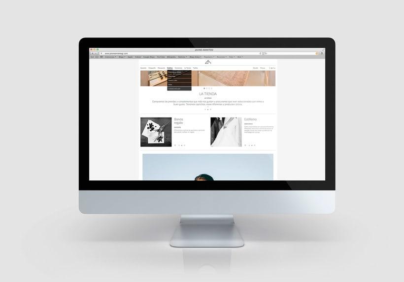 Jaione amantegi, sitio web 2