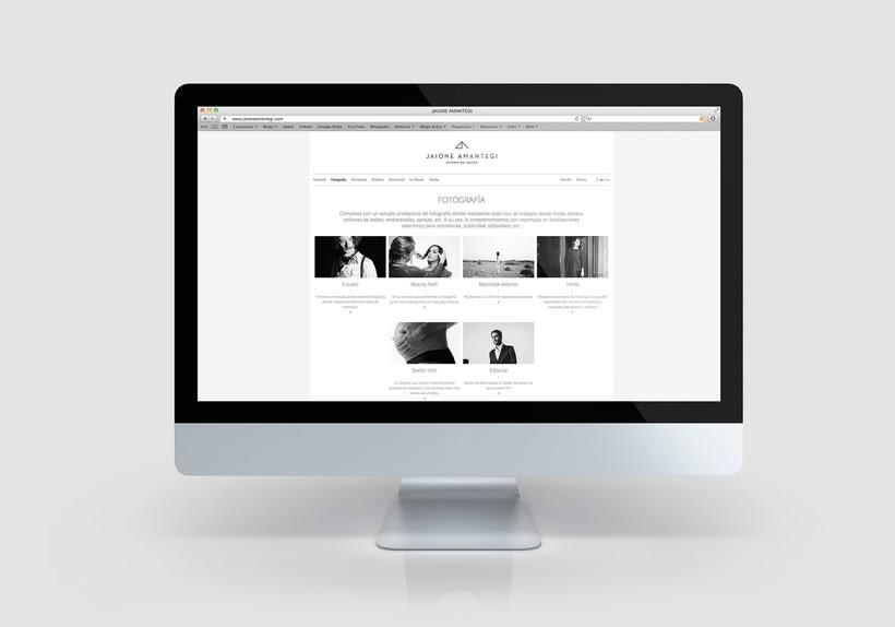 Jaione amantegi, sitio web 3