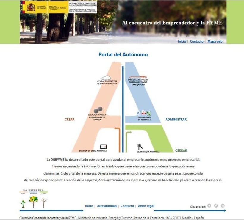 Portal del Autónomo - Ministerio de Industria, Energía y Turismo DGIPYME 0