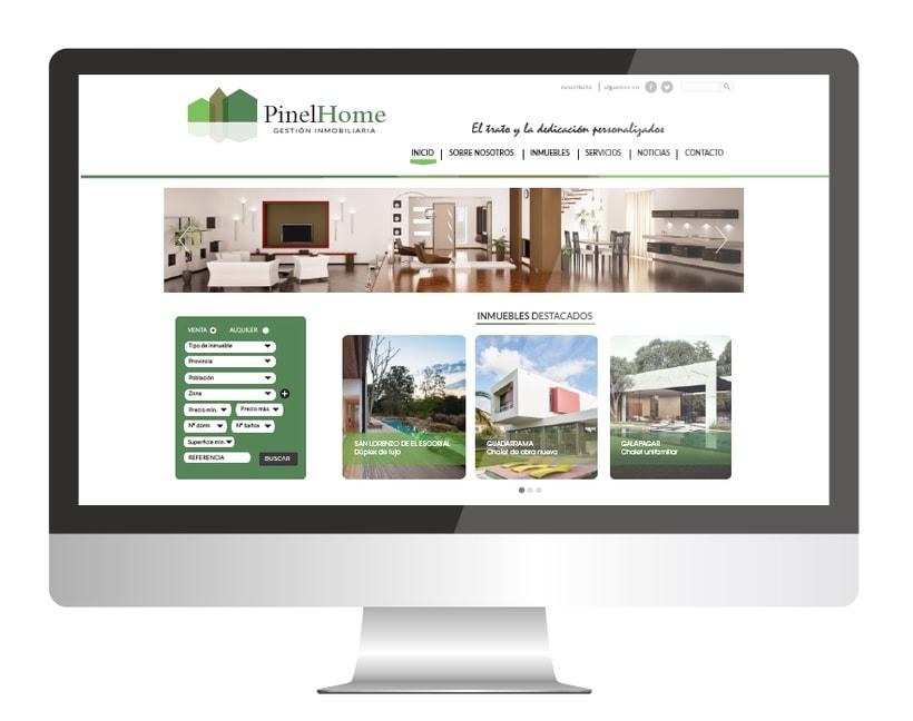 PINEL HOME: diseño de web corporativa -1