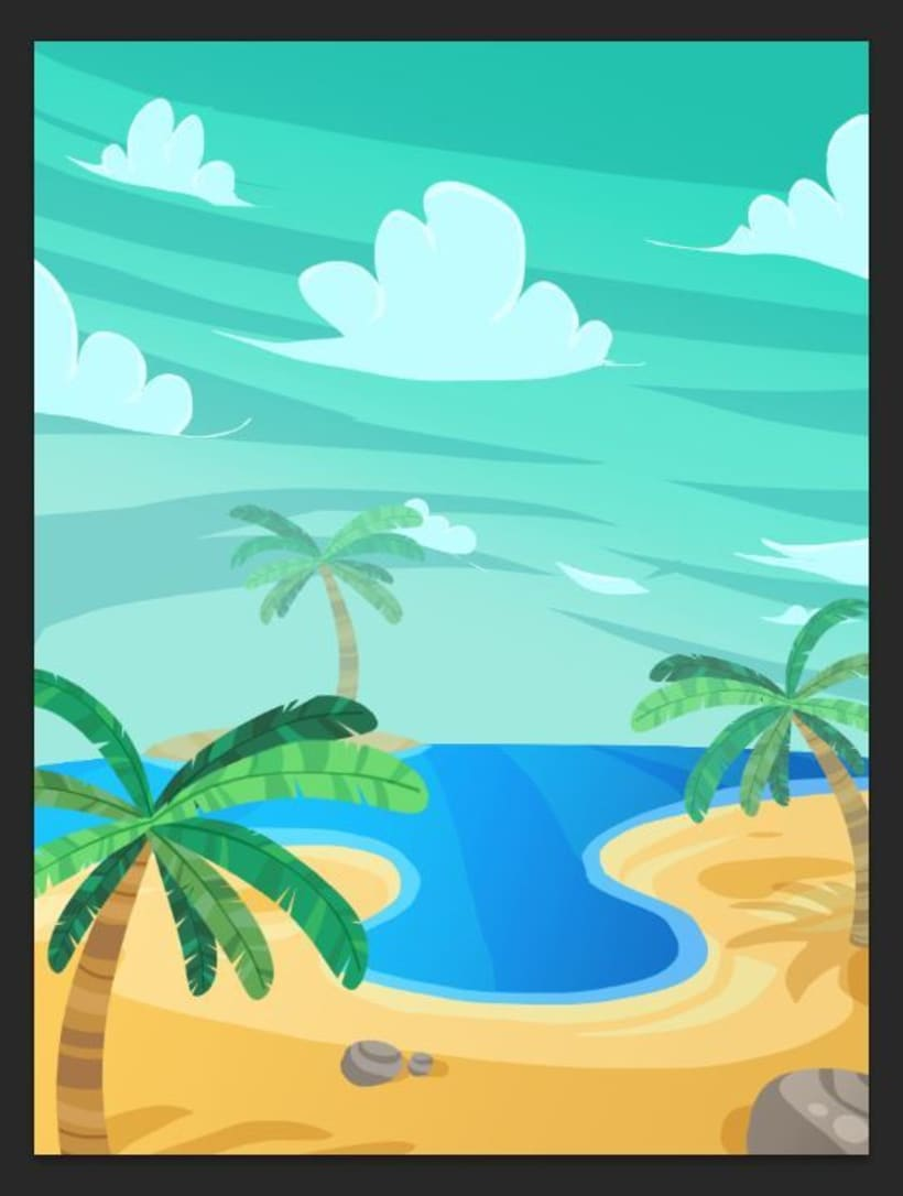 Bubble Paradise 1: Backgrounds and GUI -1
