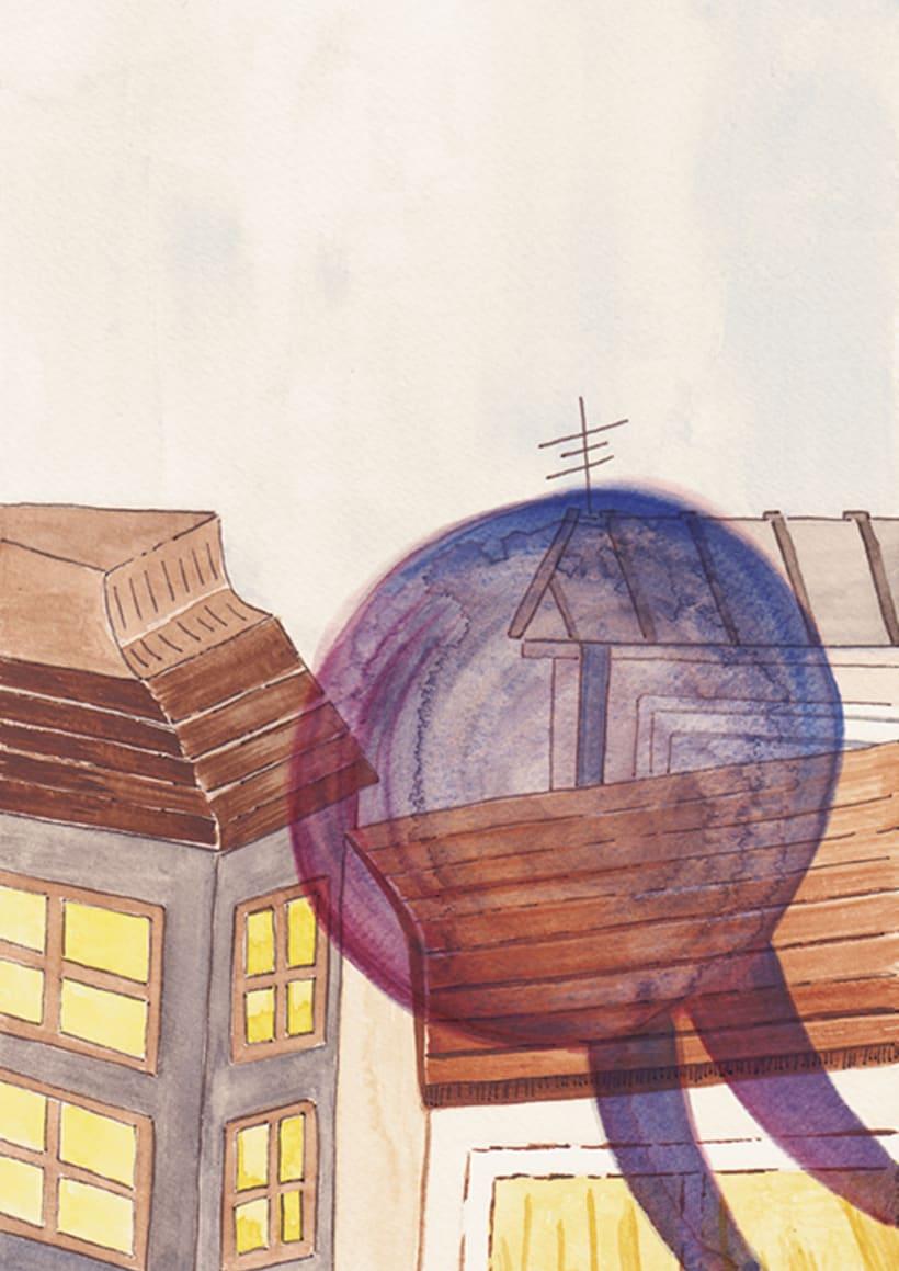 Maquetación e ilustración de un relato corto, 'La Molicie' 1