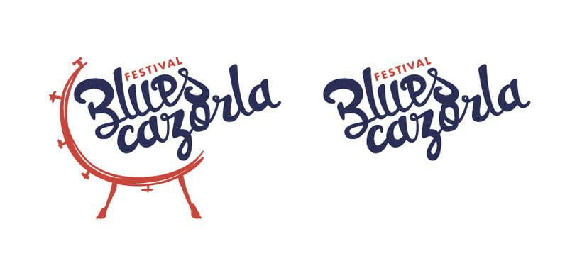 Creación de marca e identidad visual para el 'Festival Blues Cazorla' (Propuesta) 1