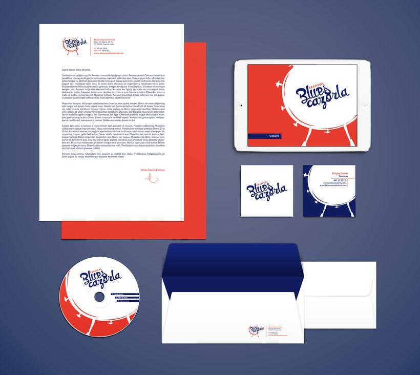 Creación de marca e identidad visual para el 'Festival Blues Cazorla' (Propuesta) 2