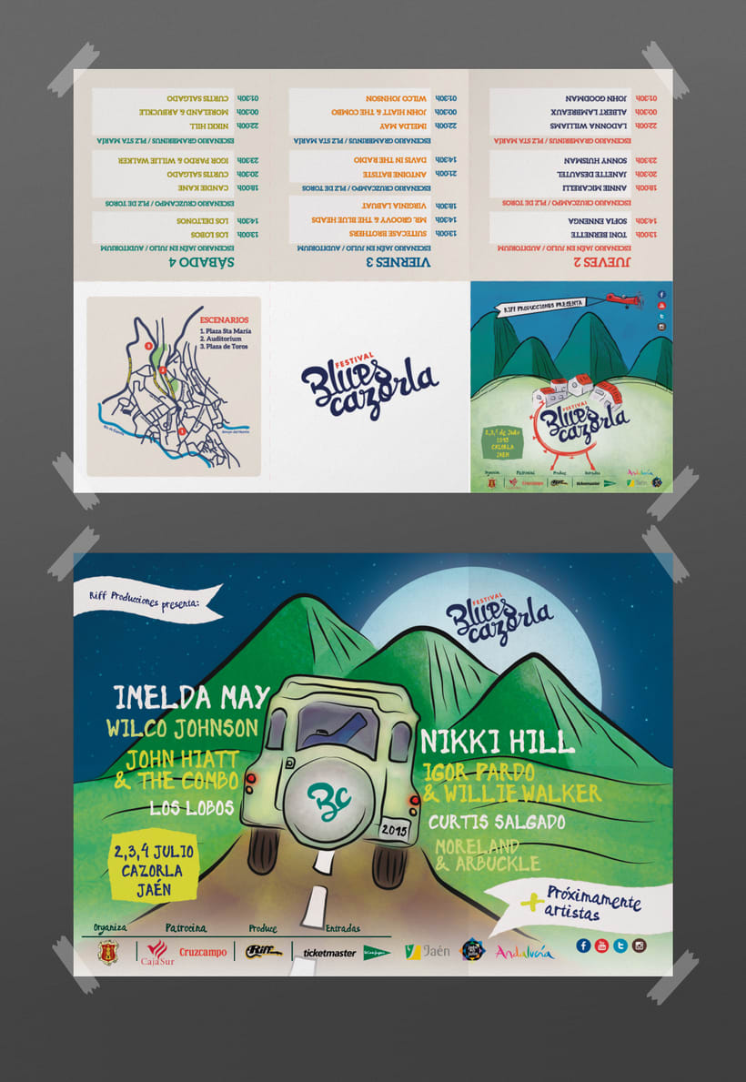 Creación de marca e identidad visual para el 'Festival Blues Cazorla' (Propuesta) 4