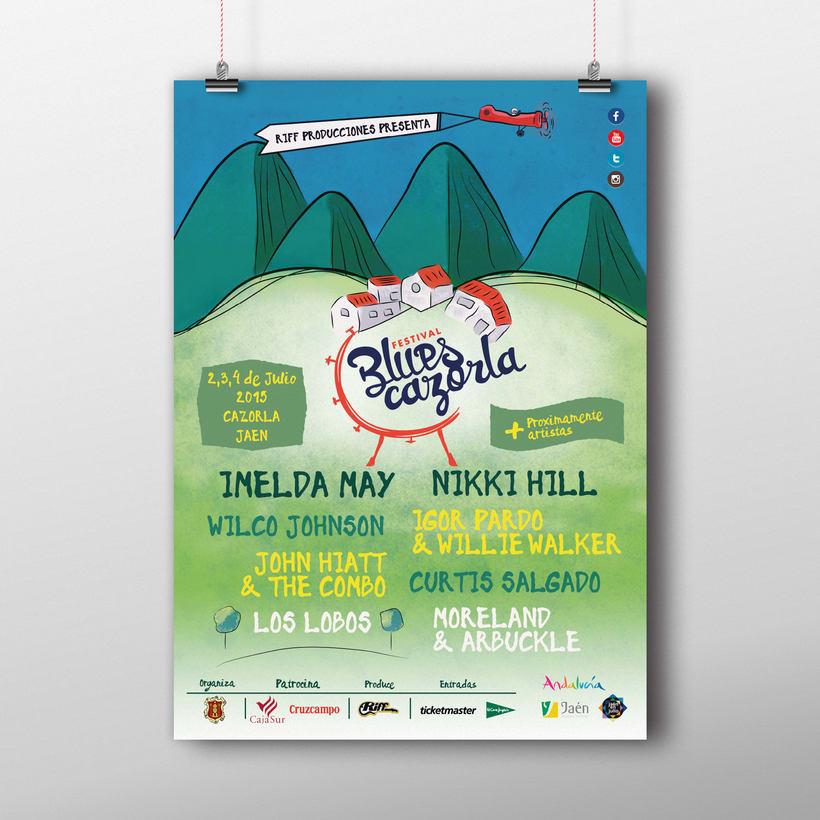 Creación de marca e identidad visual para el 'Festival Blues Cazorla' (Propuesta) 5