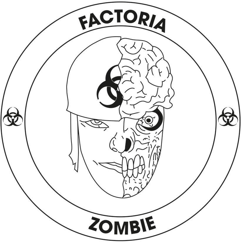 Diseño Logotipo - Parche para la empresa Factoría Zombie -1