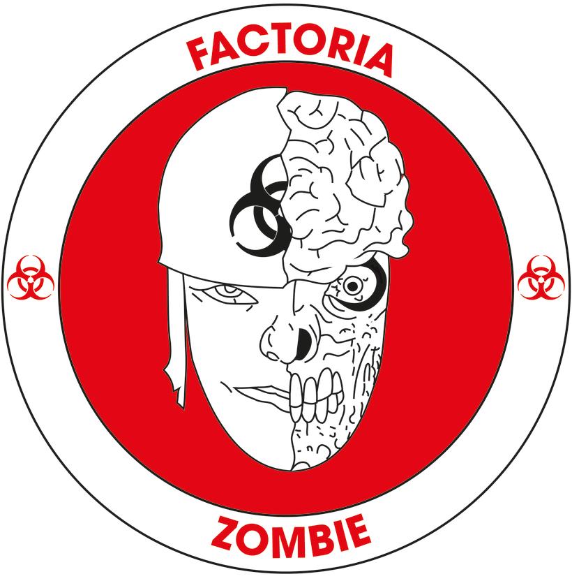 Diseño Logotipo - Parche para la empresa Factoría Zombie 3