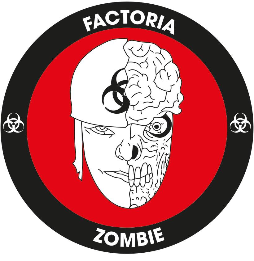 Diseño Logotipo - Parche para la empresa Factoría Zombie 4