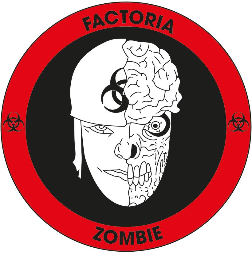 Diseño Logotipo - Parche para la empresa Factoría Zombie 6
