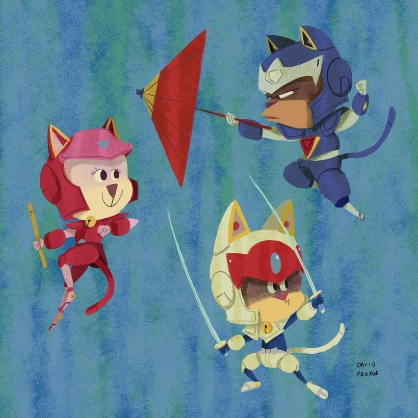 Gatos Samurais -1