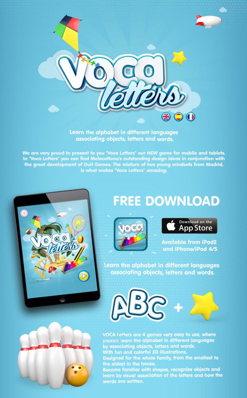 Voca Letters - Videojuego Multiplataforma 1