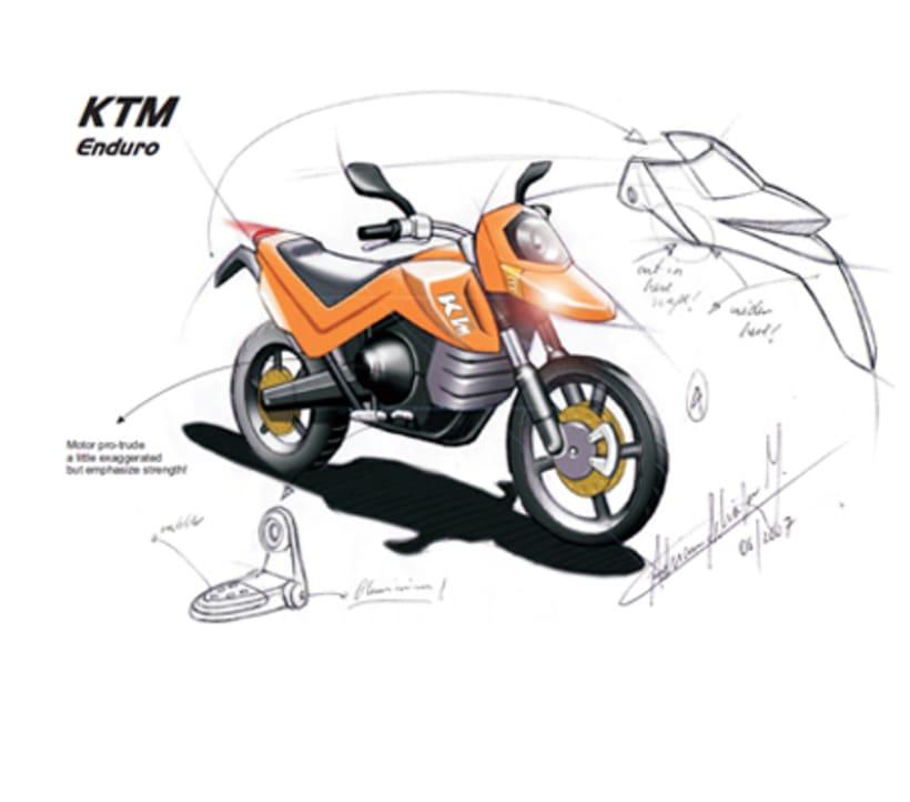 MOTORBIKE DESIGN. Muestra de sketching y Diseno para Kiska en Austria 0