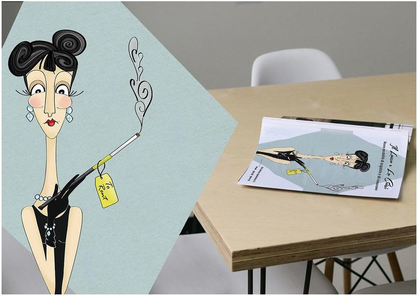 CARICATURE: Audrey Hepburn  -1