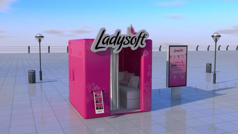 STAND LADYSOFT// Diseño / Modelado 3D 1