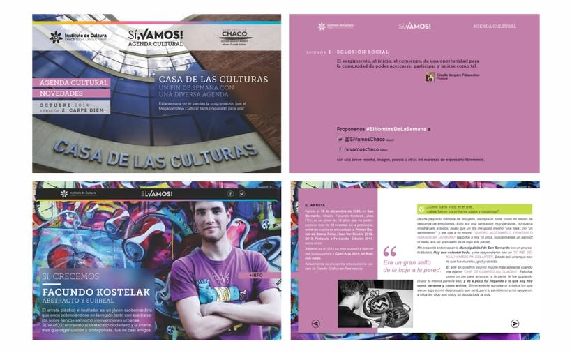 "Agenda Cultural ""Sí, Vamos"" - Instituto de Cultura del Chaco 4"
