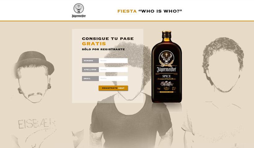 """Fiesta """" Who is Who? """" para  Jägermeífter, realizado en Aula Creactiva en el Master de diseño Web 4"""