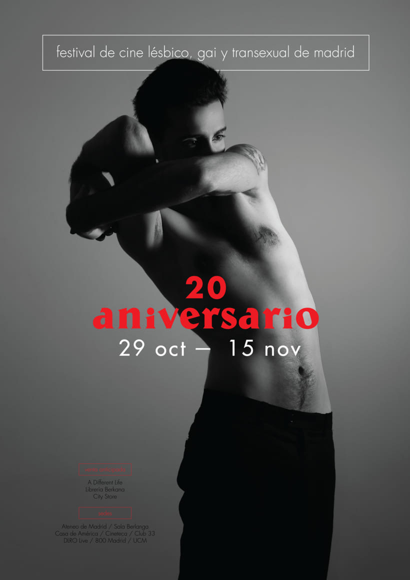 Propuesta concurso cartel festival de cine LGTB de Madrid -1