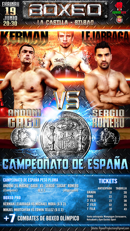 Póster Boxeo Campeonato de España -1