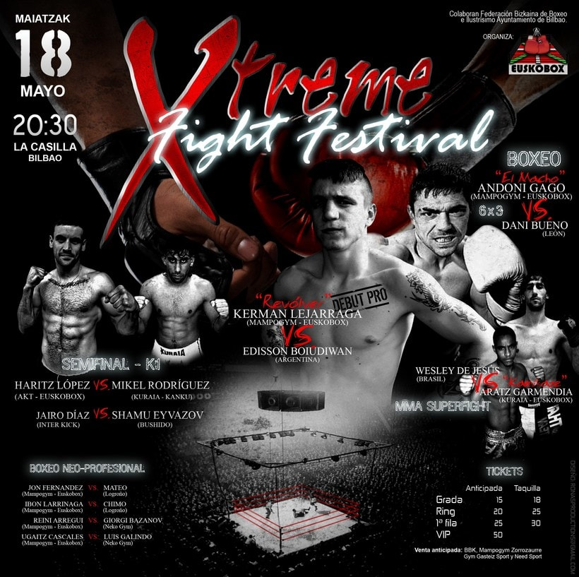Póster Xtreme Fight Festival -1