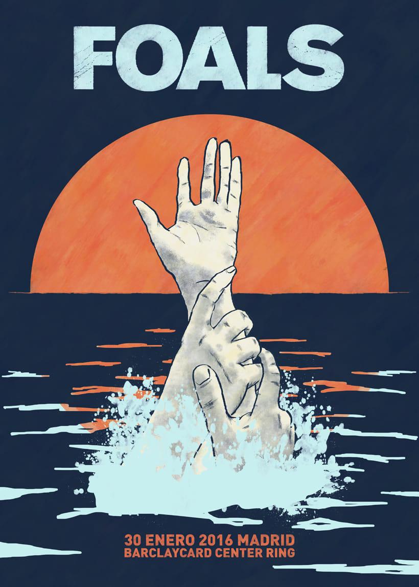 FOALS What Went Down. Mi Proyecto del curso Ilustración para music lovers -1
