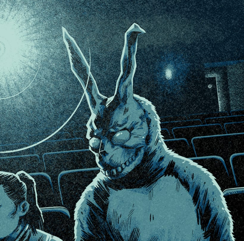 """Wake Up"" Póster homenaje a Donnie Darko para Bottleneck Gallery NY 3"