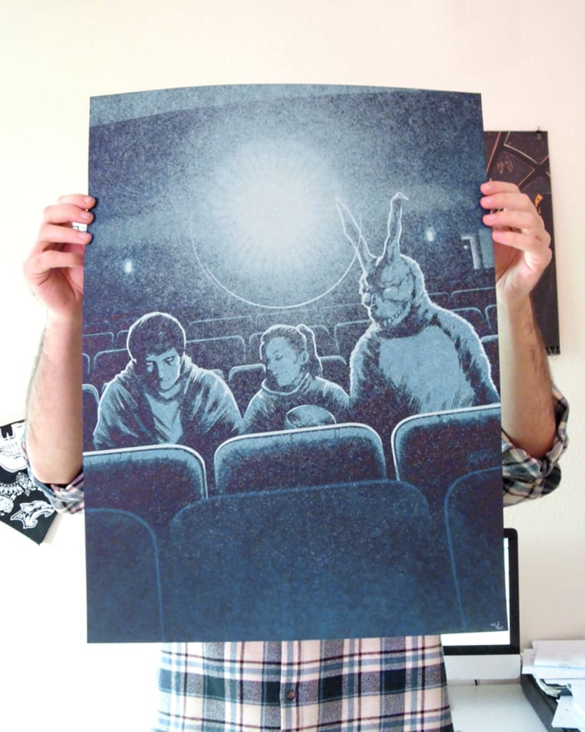"""Wake Up"" Póster homenaje a Donnie Darko para Bottleneck Gallery NY 4"