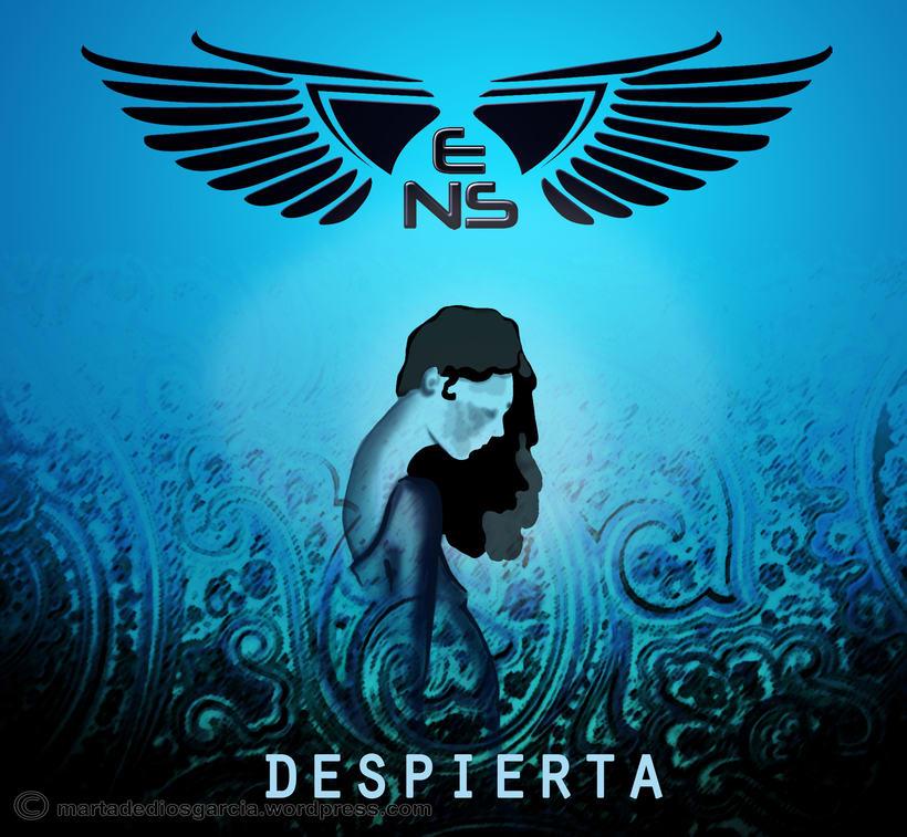 """Diseño imagen álbum """"Despierta"""" del grupo """"El Número de Shanon"""" 0"""